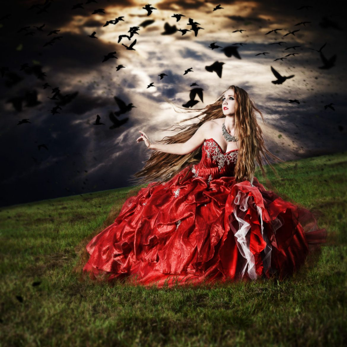 Red fine art photography series